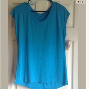 Be Inspired Shortsleeve back cutout Top Sz XS